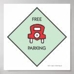 Free Parking Corner Square Poster
