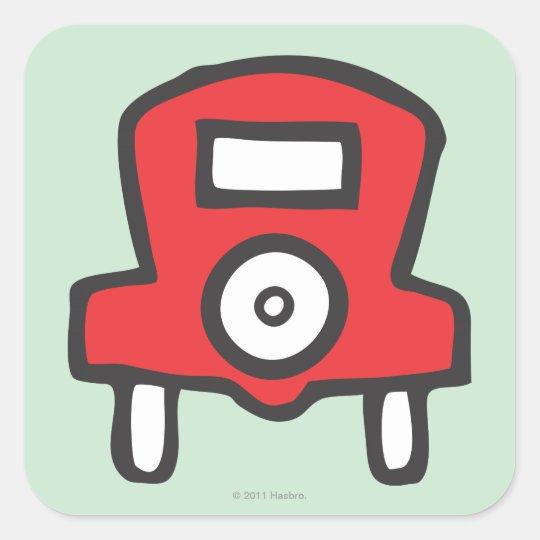 Free Parking Square Sticker