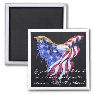 free_patriotic_eagle_clipart, si usted no puede st imán cuadrado