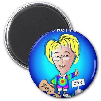 Free Patty 2 Inch Round Magnet