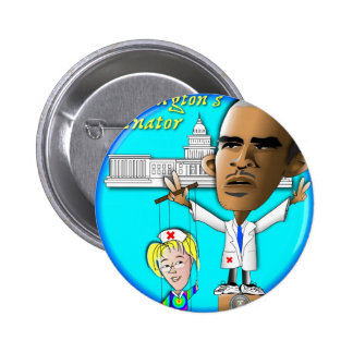 Free Patty from Strings 2 Inch Round Button