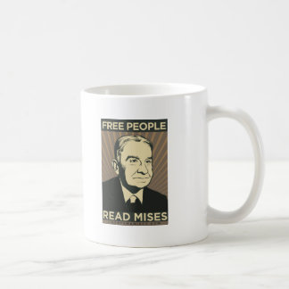 Free people Read Mises Classic White Coffee Mug