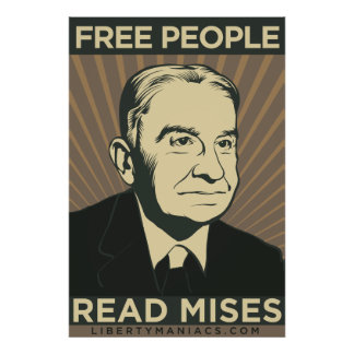 Free People Read Mises Poster