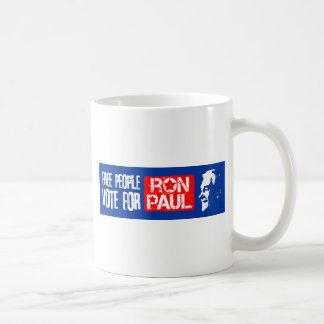Free people vote for Ron Paul Coffee Mug