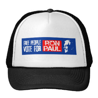 Free people vote for Ron Paul Trucker Hat