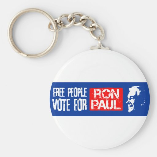 Free people vote for Ron Paul Basic Round Button Keychain