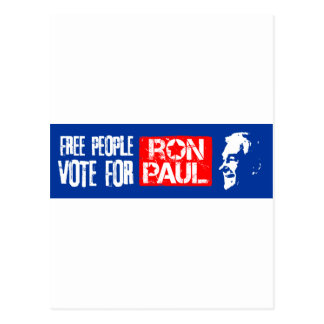 Free people vote for Ron Paul Post Cards