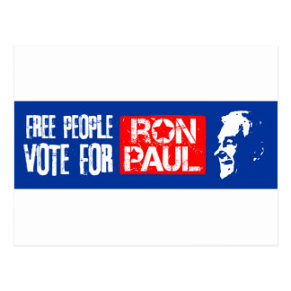 Free people vote for Ron Paul Post Card
