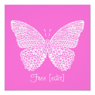 Free - Pink Butterfly Greeting Card