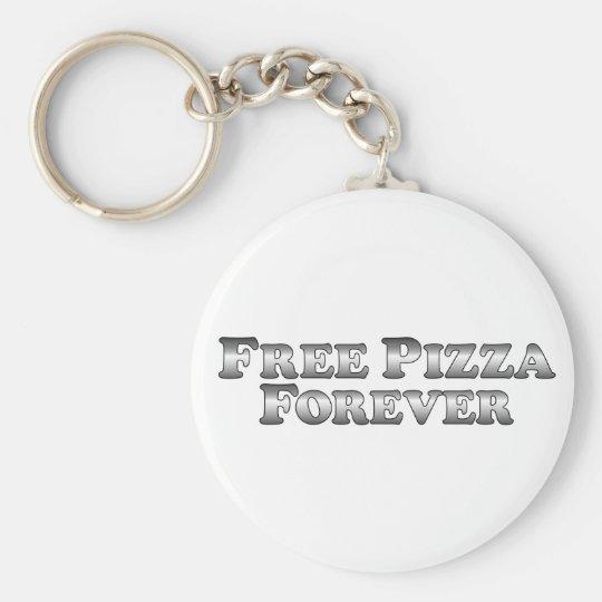 Free Pizza Forever - Basic Keychain