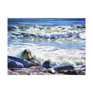 Beach Themed Free Port Canvas Print