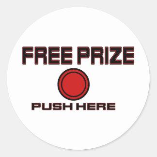 Free Prize Classic Round Sticker