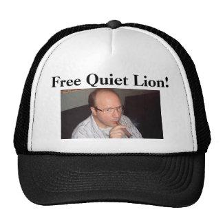 Free Quiet Lion! trucker hat