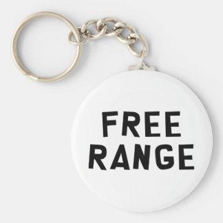 Free Range Basic Round Button Keychain