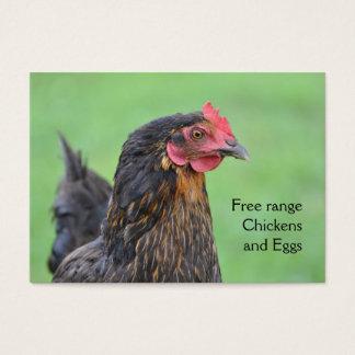 Free range black chicken eggs business card