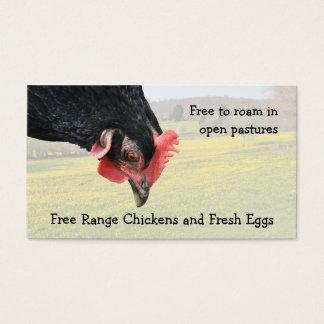 Free range black hen business card