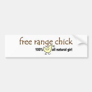 Free Range Chick 2 Car Bumper Sticker