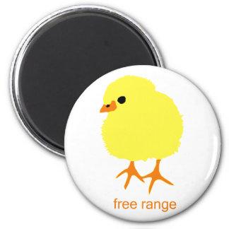 Free Range Chick 2 Inch Round Magnet