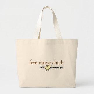 Free Range Chick 2 Large Tote Bag