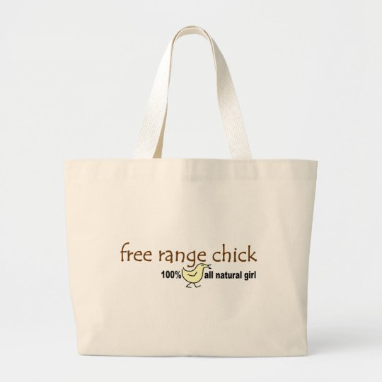 Free Range Chick 2 Large Tote Bag
