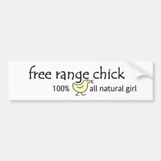 Free Range Chick Car Bumper Sticker