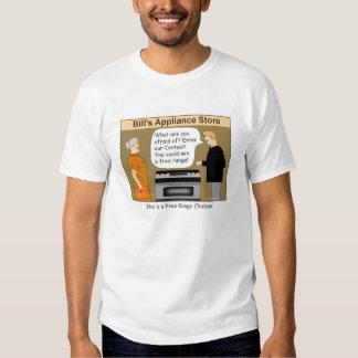 Free Range Chicken Cartoon T-shirt