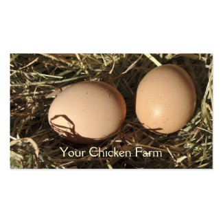 Free range eggs business card