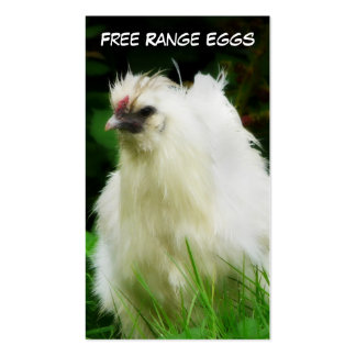 Free Range Eggs Layer or Poultry Bird Double-Sided Standard Business Cards (Pack Of 100)