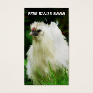 Free Range Eggs Layer or Poultry Bird Business Card