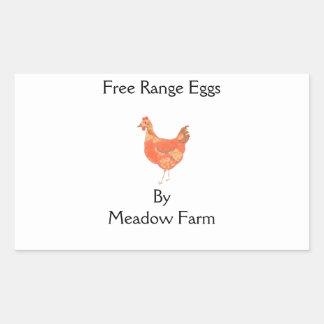 Free range eggs, product labels
