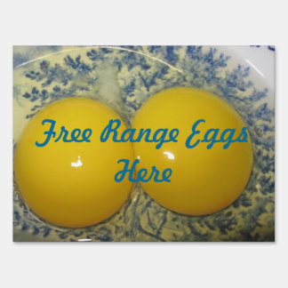 Free Range Eggs Sign
