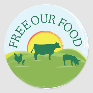Free Range Food Sticker