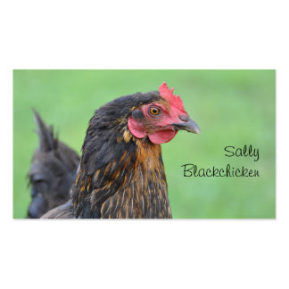 Free range hen and egg photo business card