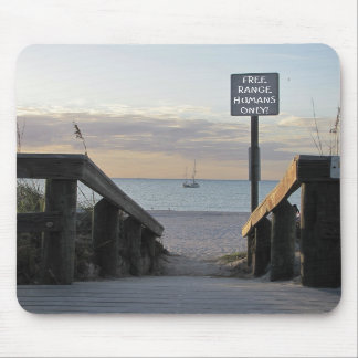 Free Range Humans Only Mouse Pad