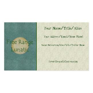 Free Range Lunatic Business Card