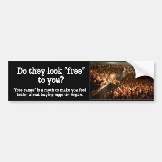 Free-Range Myth Bumper Sticker