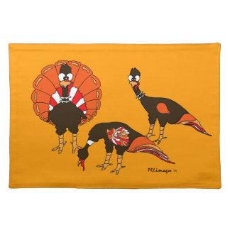 Free Range Turkeys Cloth Placemat