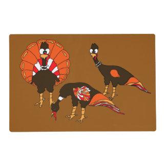 Free Range Turkeys Laminated Placemat