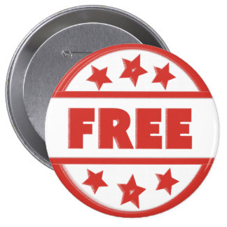 Free Red Stamp Your Custom Round Badge Pinback Button