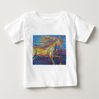 """Free Rein"" Horse Art Mosaic/Stained Glass Style! Baby T-Shirt"