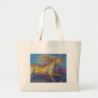 """""""Free Rein"""" Horse Art Mosaic/Stained Glass Style! Bags"""