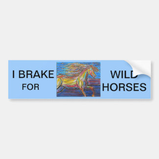 """""""Free Rein"""" Horse Art Mosaic/Stained Glass Style! Bumper Sticker"""
