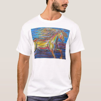 """Free Rein"" Horse Art Mosaic/Stained Glass Style! T-Shirt"