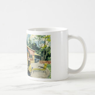 free RETRO printable - MCM house jpg Coffee Mugs