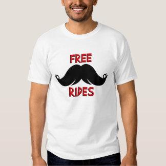 Free Rides Custom Mustache Moustache T-Shirt