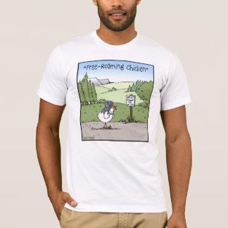 Free-Roaming Chicken Funny Chicken Cartoon T-Shirt