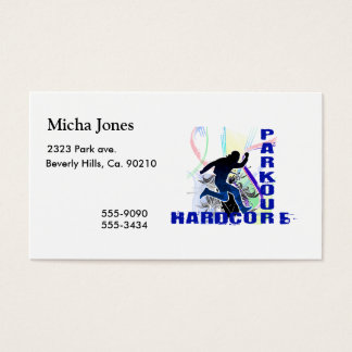 Free Running Parkour Hardcore Business Card