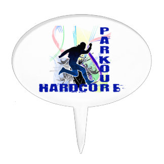 Free Running Parkour Hardcore Cake Topper