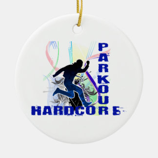 Free Running Parkour Hardcore Ceramic Ornament
