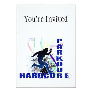 "Free Running Parkour Hardcore 5"" X 7"" Invitation Card"